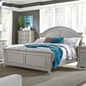 Liberty Furniture Summer House II King Panel Bed  - Item Number: 407-BR-KPB