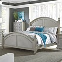 Liberty Furniture Summer House II Queen Poster Bed  - Item Number: 407-BR-QPS
