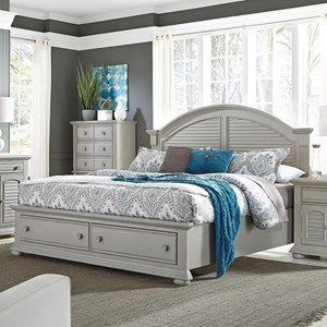 Liberty Furniture Summer House II Queen Storage Bed