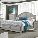 Liberty Furniture Summer House II Queen Storage Bed  - Item Number: 407-BR-QSB