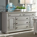 Liberty Furniture Summer House II 2 Door 5 Drawer Dresser - Item Number: 407-BR32
