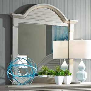 Liberty Furniture Summer House II Mirror with Wood Frame