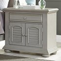 Liberty Furniture Summer House II 2 Door 1 Drawer Night Stand - Item Number: 407-BR61