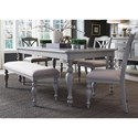 Liberty Furniture Summer House Dining Transitional Upholstered Dining Bench