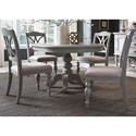 Liberty Furniture Summer House Dining 5 Piece Pedestal Table Set  - Item Number: 407-CD-5PDS