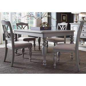 Liberty Furniture Summer House Dining 5 Piece Rectangular Table Set