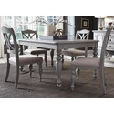 Liberty Furniture Summer House Dining 5 Piece Rectangular Table Set  - Item Number: 407-CD-5RLS