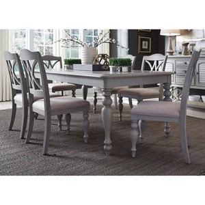 Liberty Furniture Summer House Dining 7 Piece Rectangular Table Set