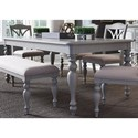 Liberty Furniture Summer House Dining Rectangular Leg Table - Item Number: 407-T4078