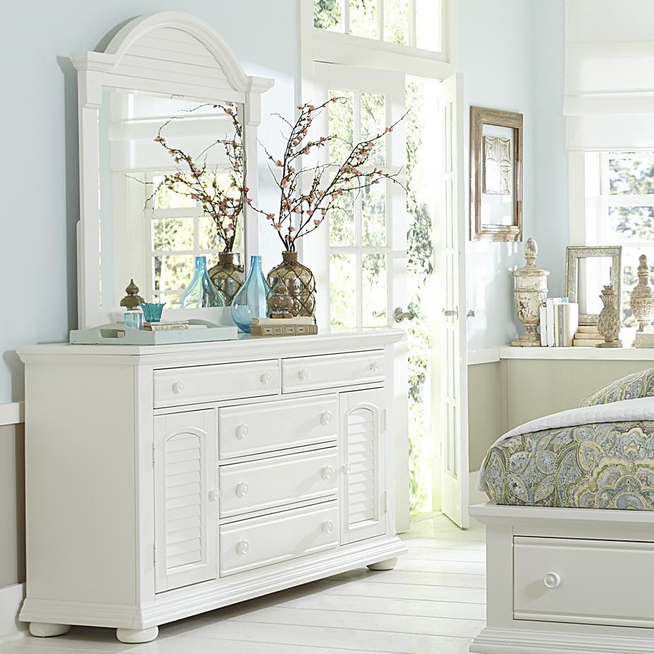 Liberty Furniture Summer House Dresser and Mirror - Item Number: 607-BR-DM