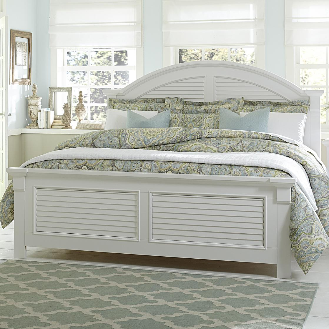 Liberty Furniture Summer House Queen Panel Bed - Item Number: 607-BR-QPB
