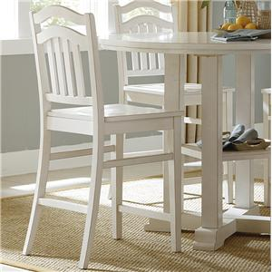 Vendor 5349 Summerhill Slat Back Counter Stool