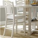 Liberty Furniture Summerhill Slat Back Counter Stool - Item Number: 518-C150124