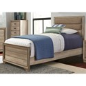 Liberty Furniture Sun Valley Twin Upholstered Panel Bed  - Item Number: 439-BR-TUB