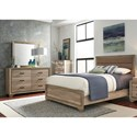 Liberty Furniture Sun Valley Twin Uph Bed, Dresser & Mirror  - Item Number: 439-BR-TUBDM