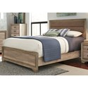 Vendor 5349 Sun Valley 439 Queen Upholstered Panel Bed - Item Number: 439-BR13HF+BR90