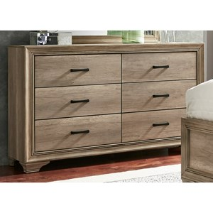 Vendor 5349 Sun Valley 439 6 Drawer Dresser