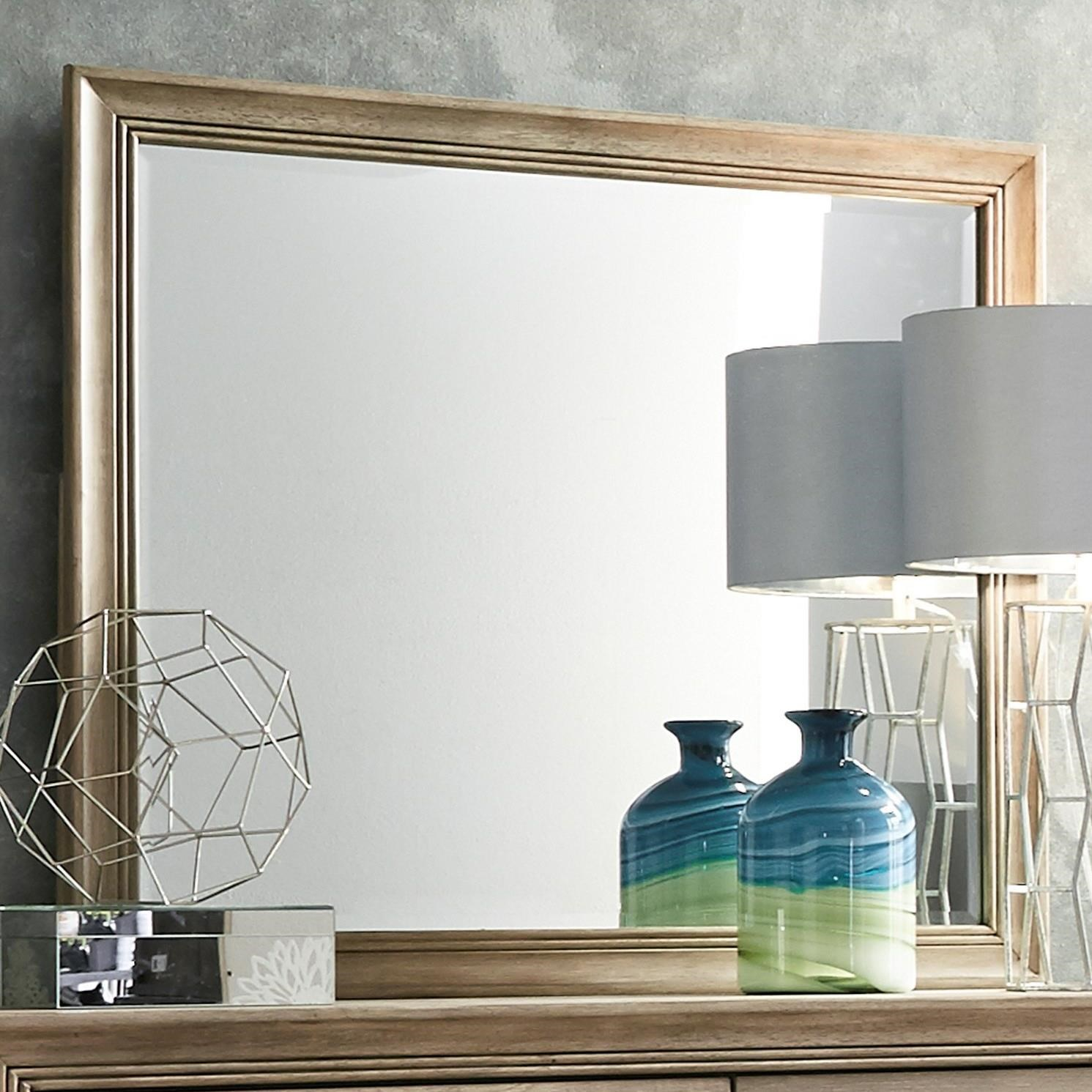 Liberty Furniture Sun Valley 439 Mirror with Wood Frame - Item Number: 439-BR51