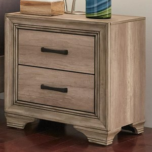 Vendor 5349 Sun Valley 439 2 Drawer Night Stand