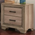 Vendor 5349 Sun Valley 439 2 Drawer Night Stand - Item Number: 439-BR61
