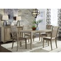 Liberty Furniture Sun Valley 5 Piece Leg Table Set  - Item Number: 439-DR-5LTS