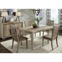 Liberty Furniture Sun Valley 5 Piece Rectangular Table Set  - Item Number: 439-DR-5RLS