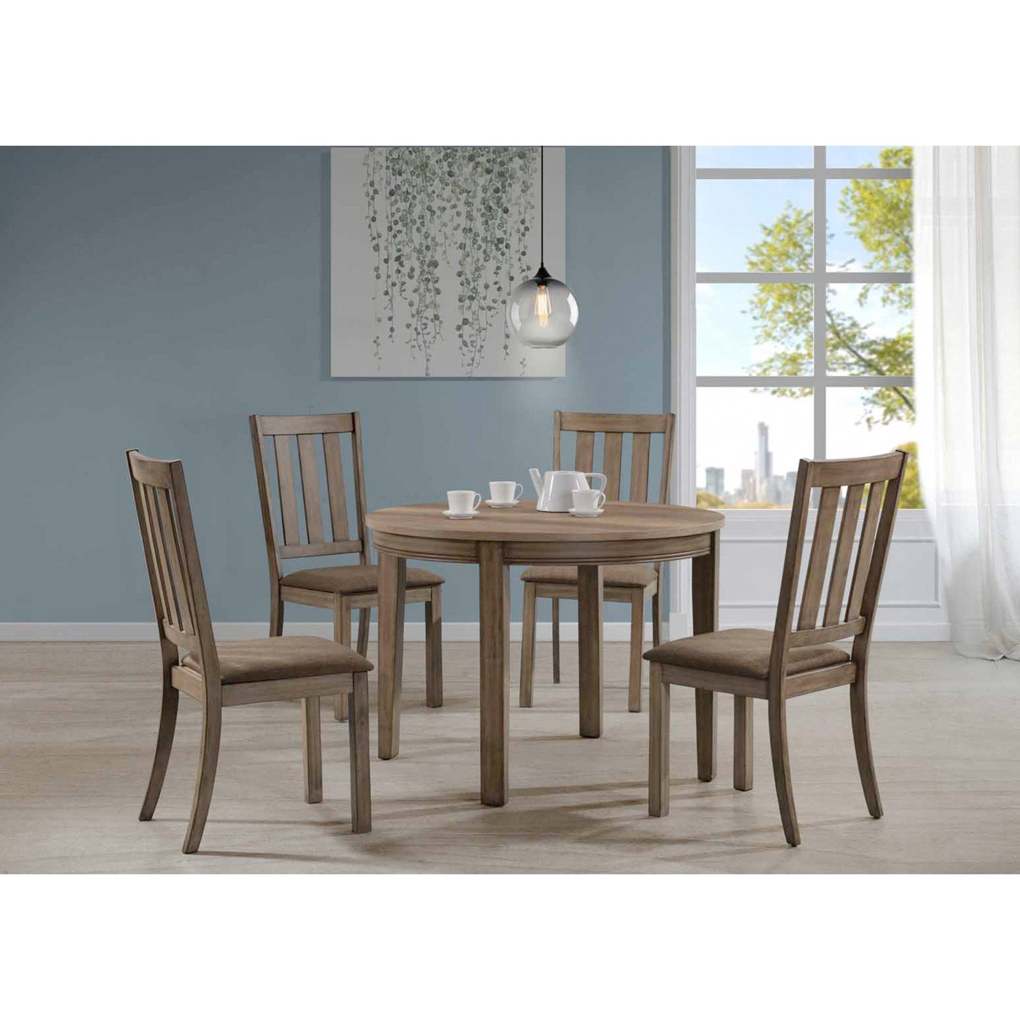 Liberty Furniture Sun Valley 5 Piece Round Table Set - Item Number: 439-DR-5ROS