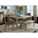 Liberty Furniture Sun Valley 6 Piece Rectangular Table Set - Item Number: 439-DR-6RLS