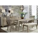 Liberty Furniture Sun Valley 6 Piece Rectangular Table Set - Item Number: 439-DR-6RTS