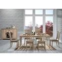 Liberty Furniture Sun Valley 7 Piece Rectangular Table Set  - Item Number: 439-DR-7RLS
