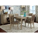 Liberty Furniture Sun Valley Opt 5 Piece Rectangular Table Set  - Item Number: 439-DR-O5RLS