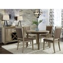 Liberty Furniture Sun Valley Opt 5 Piece Round Table Set - Item Number: 439-DR-O5ROS