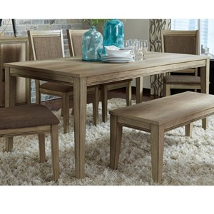 Liberty Furniture Sun Valley Rectangular Leg Table
