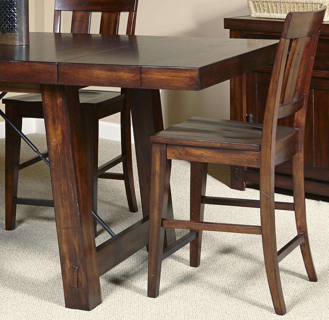 Liberty Furniture Tahoe Slat Back Counter Chair   Item Number: 555 B150024