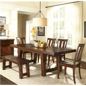 Liberty Furniture Tahoe 6 Piece Dining Table Set