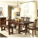 Vendor 5349 Tahoe 6 Piece Dining Table Set - Item Number: 555-CD-SET124