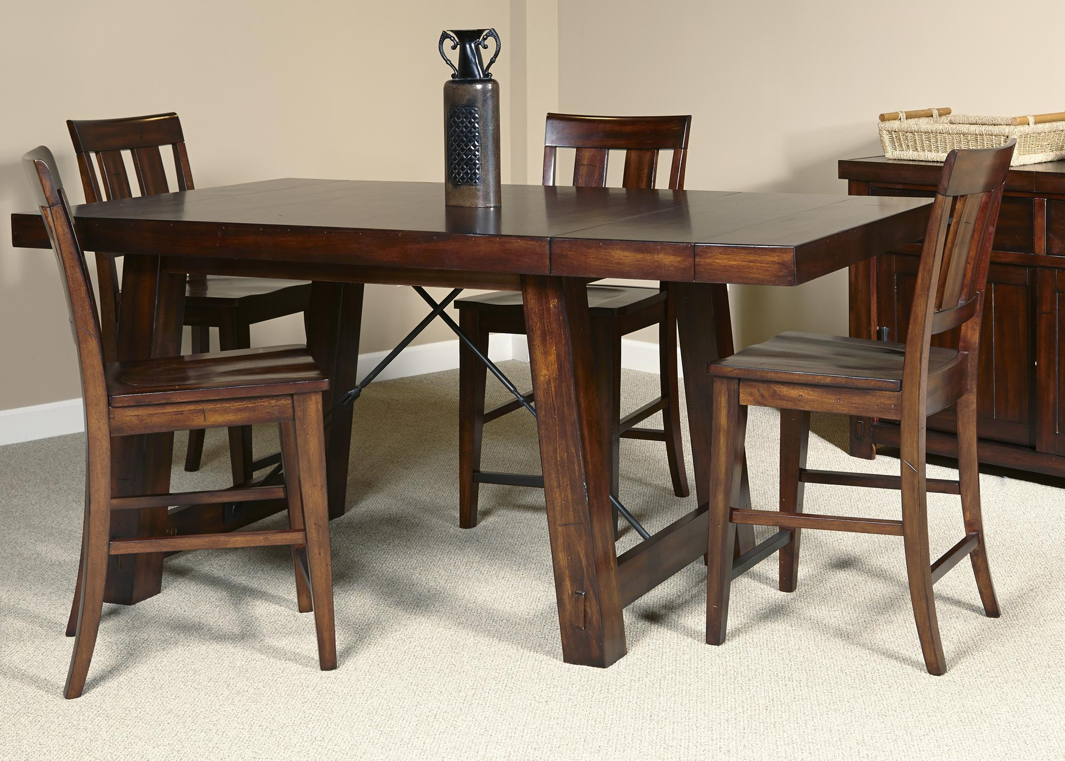 Wonderful Liberty Furniture Tahoe 5 Piece Gathering Table Set   Item Number: 555 CD