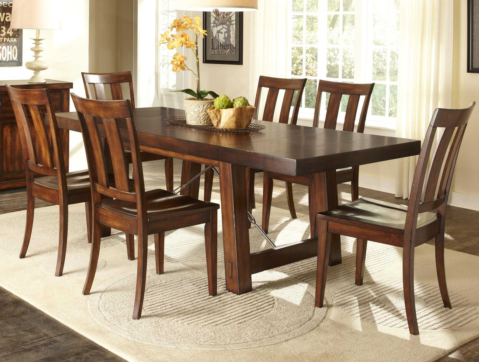 Liberty furniture tahoe 7 piece dining table set item number 555 cd