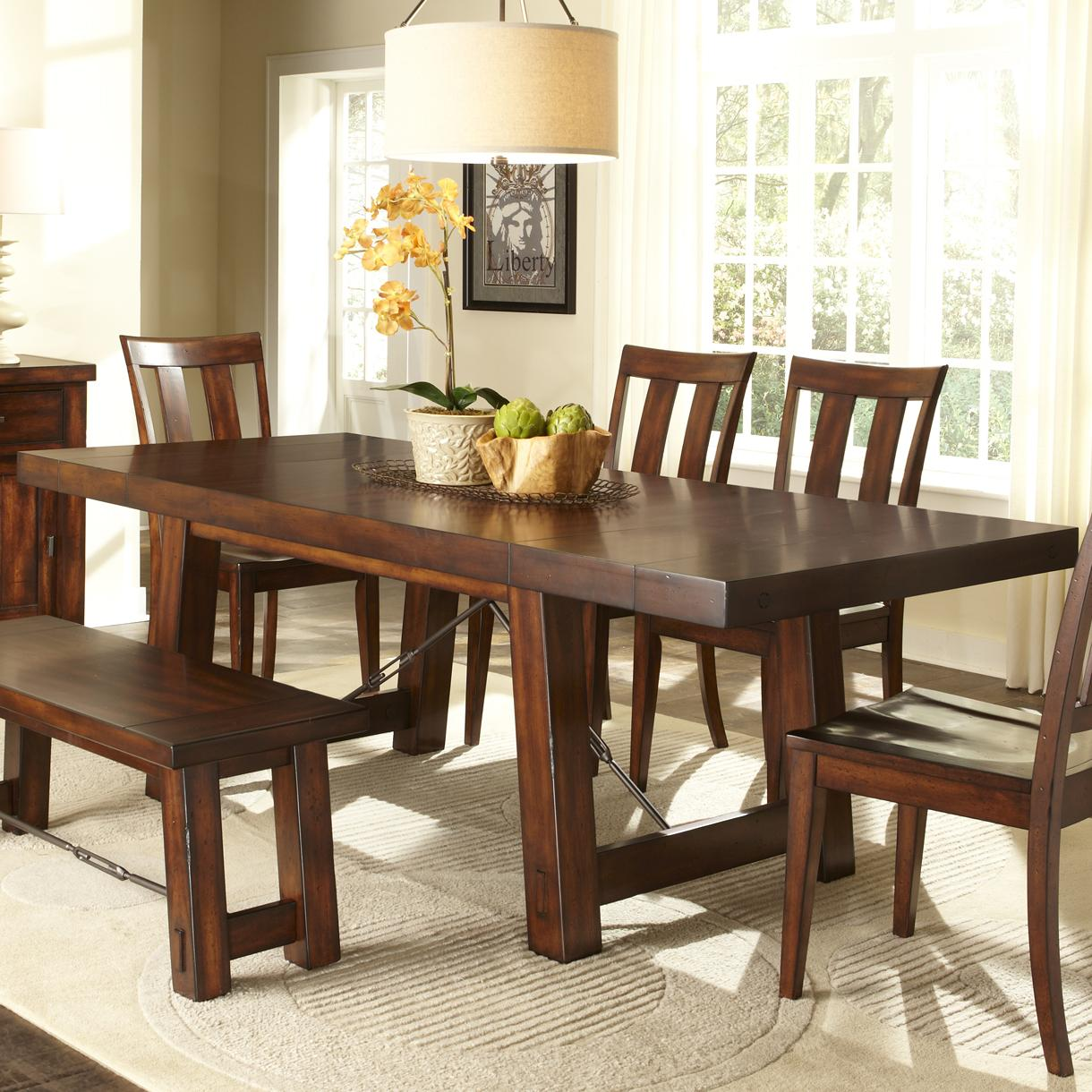 Liberty Furniture Tahoe Trestle Table   Item Number: 555 T4090
