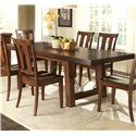 Vendor 5349 Tahoe Trestle Table with Iron Support Stretcher and Turnbuckle Details