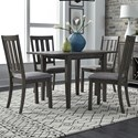 Liberty Furniture Tanners Creek 5 Piece Drop Leaf Table and Chair Set  - Item Number: 686-CD-5DLS