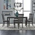 Liberty Furniture Tanners Creek 5 Piece Table and Chair Set  - Item Number: 686-CD-5LTS