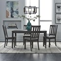 Liberty Furniture Tanners Creek 5 Piece Table and Chair Set - Item Number: 686-CD-5RLS