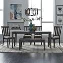 Liberty Furniture Tanners Creek 6 Piece Rectangular Table Set  - Item Number: 686-CD-6RTS