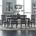 Liberty Furniture Tanners Creek 7 Piece Rectangular Table Set  - Item Number: 686-CD-7RLS