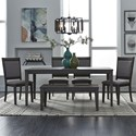 Liberty Furniture Tanners Creek 6 Piece Rectangular Table Set  - Item Number: 686-CD-O6RLS