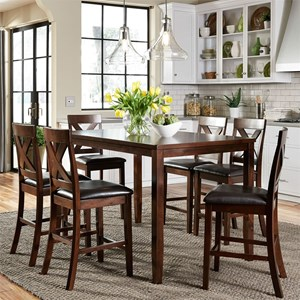 Vendor 5349 Thornton 7 Piece Gathering Table Set