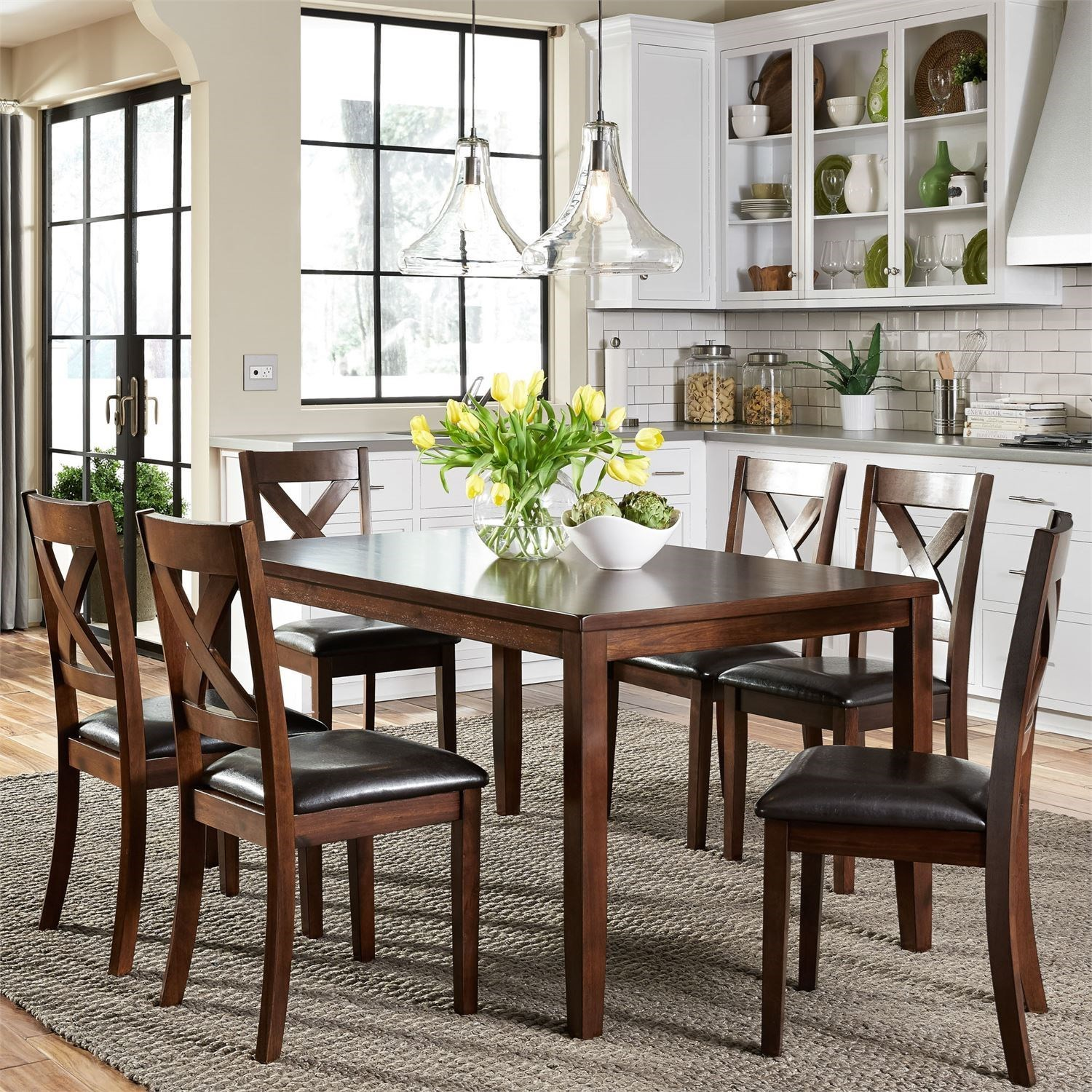 Thornton 7 Piece Rectangular Table Set by Liberty Furniture at Steger's Furniture