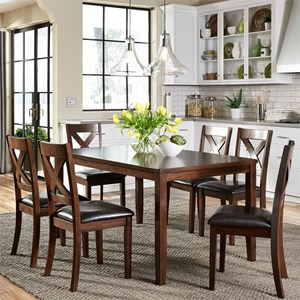 vendor thornton 7 piece rectangular table set