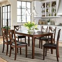 Liberty Furniture Thornton 7 Piece Rectangular Table Set - Item Number: 164-CD-7RLS